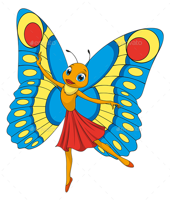 Little beautiful butterfly - Animals Characters