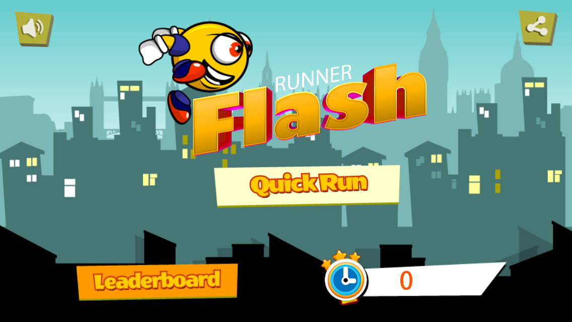 Runner flash - Buildbox 2.2.9 Game Template + Android Eclipse Project Template Included