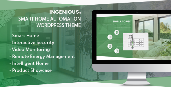ThemeForest Ingenious Smart Home Automation WordPress Theme 20626499