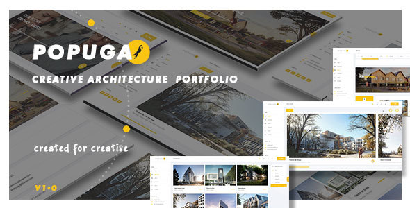 Download Popuga - Creative Responsive Architecture  Portfolio  Template
