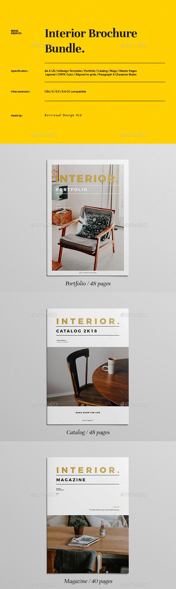 GraphicRiver Interior Brochure Bundle 21061236