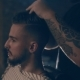 Barbershop.  of a Man's Haircut, the Master Does the Hair Styling - VideoHive Item for Sale