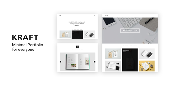 Kraft - Minimal Portfolio WordPress Theme - Portfolio Creative