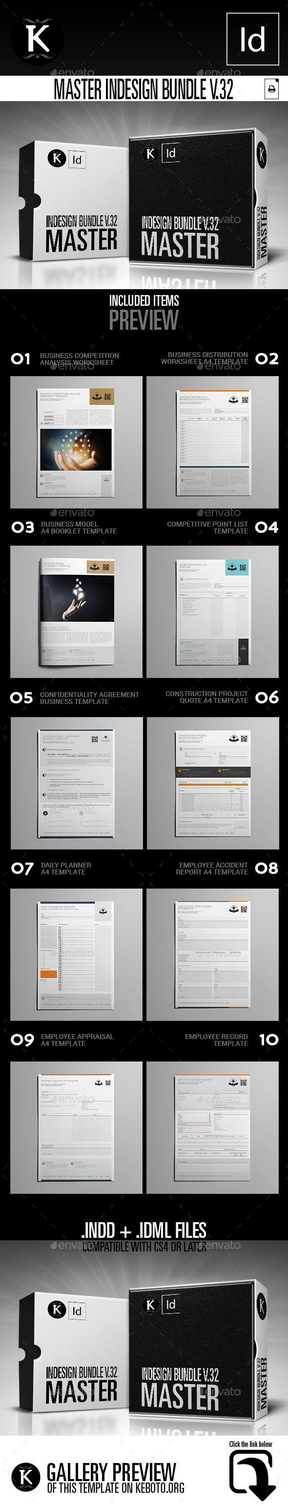 Master inDesign Bundle v.32 - Miscellaneous Print Templates