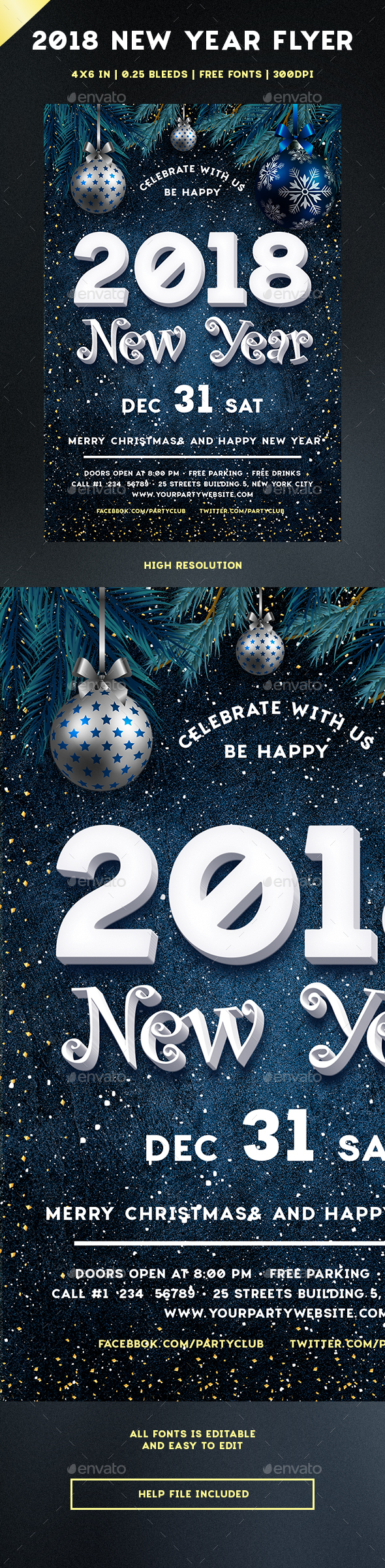 GraphicRiver 2018 New Year 21075427