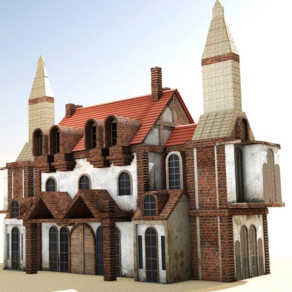 Medieval house 3d model - 3DOcean Item for Sale
