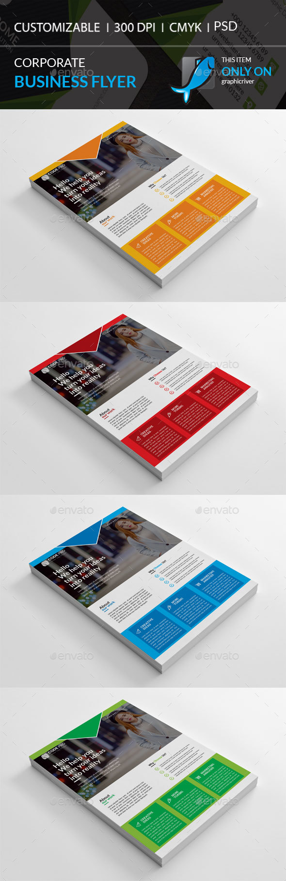 GraphicRiver Corporate Flyer 21075634