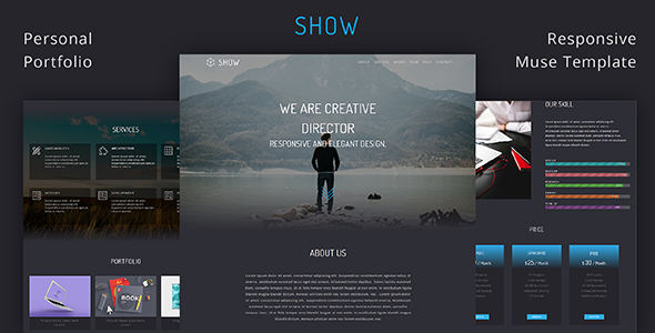 Show_Portfolio & Resume Muse Template - Creative Muse Templates