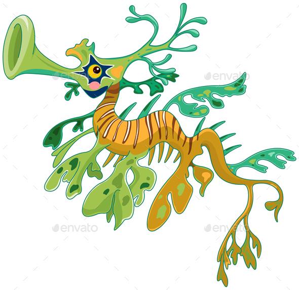 GraphicRiver Dragon Seahorse 21075716