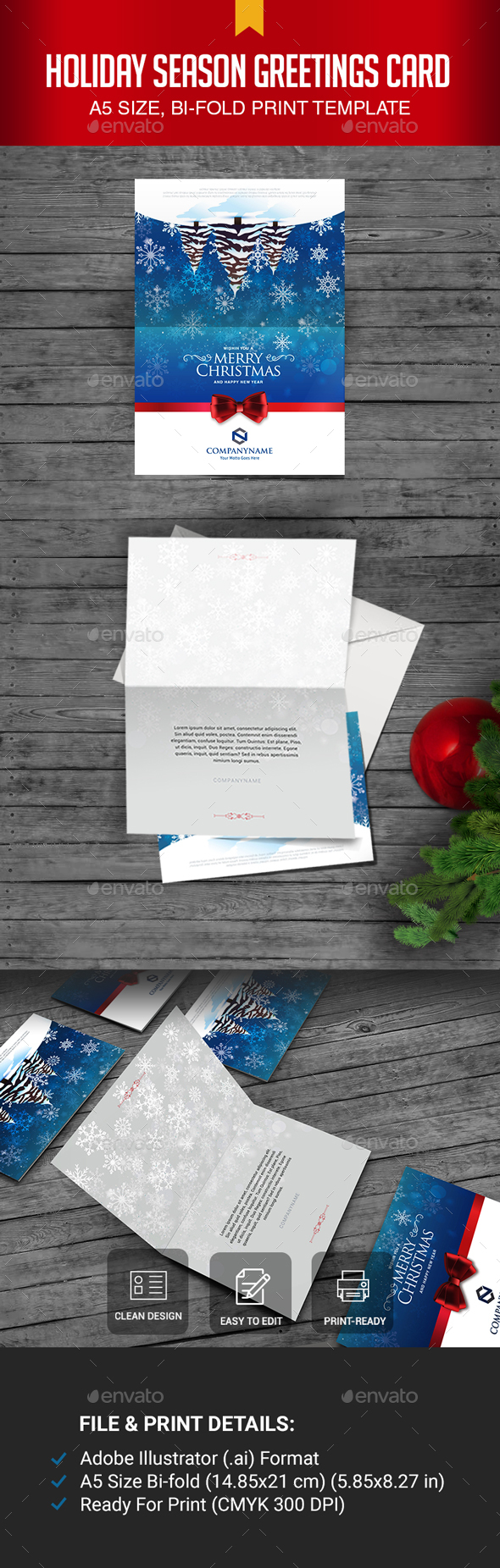 GraphicRiver Holiday Season Greetings Card 21075996