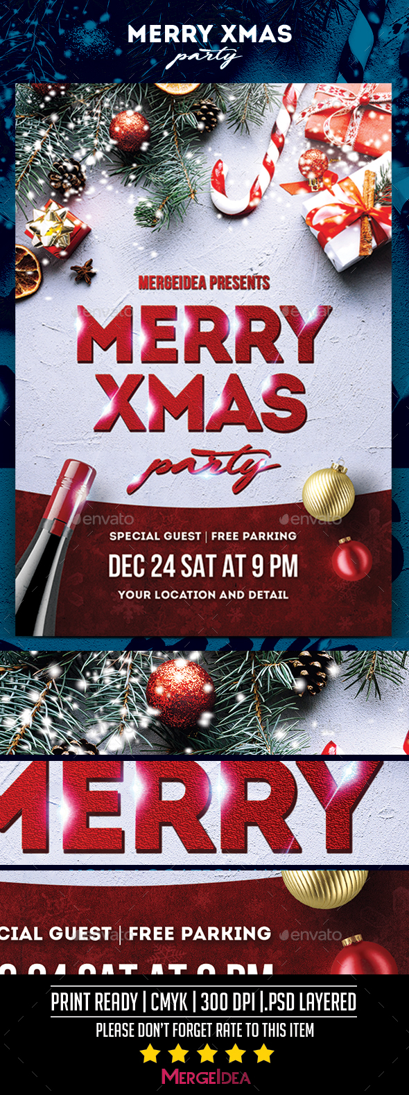 GraphicRiver Merry Xmas Party Flyer 21075998