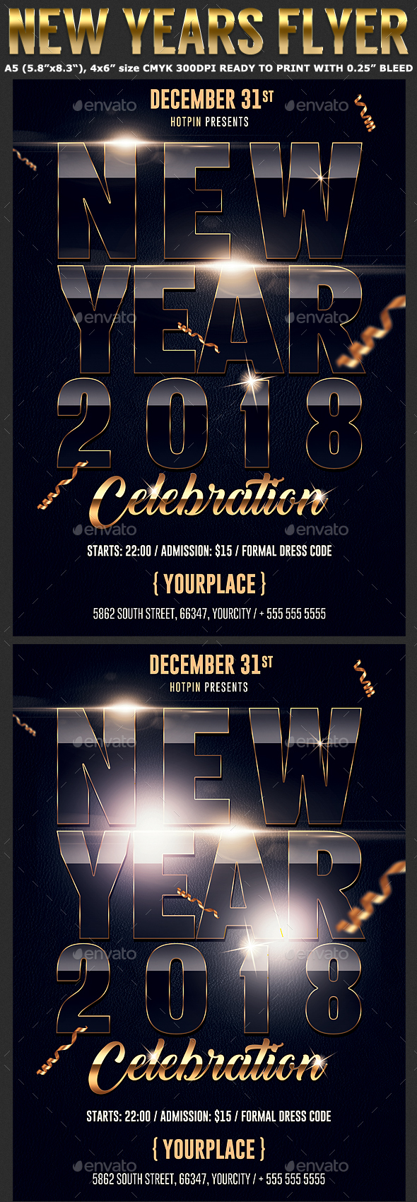 New Years Eve Party Flyer Template - Clubs & Parties Events