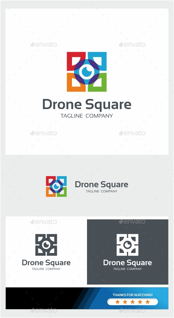 GraphicRiver Drone Square Logo 21076122