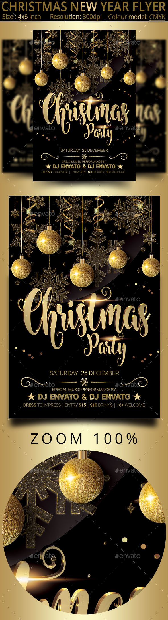 GraphicRiver Christmas New Year Party Flyer 21076299