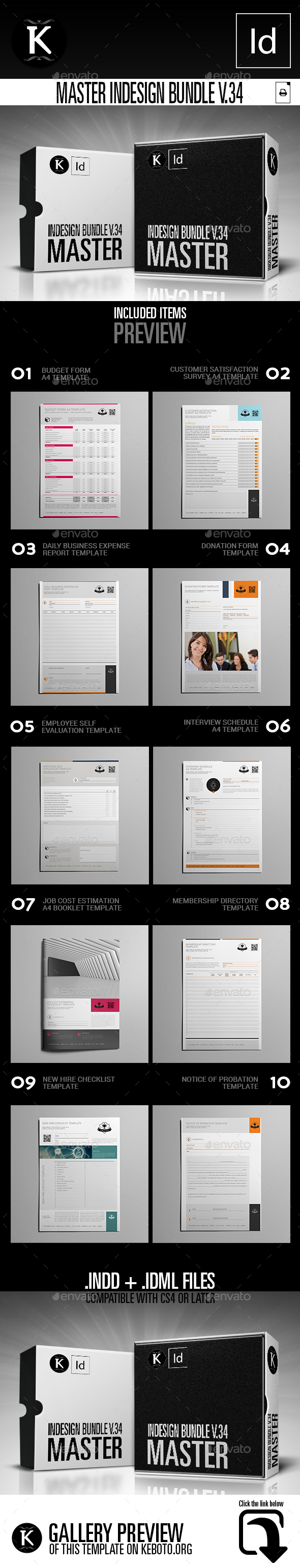 Master inDesign Bundle v.34 - Miscellaneous Print Templates