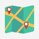 130 Maps and Navigation Flat icons