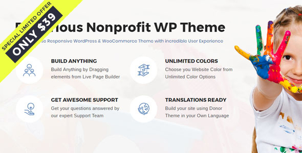 ThemeForest Denorious Nonprofit and Political WordPress Theme 20692670