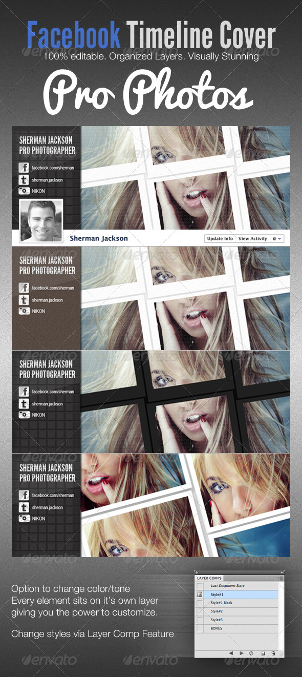 Pro Photo Facebook Timeline Cover Template - Facebook Timeline Covers Social Media