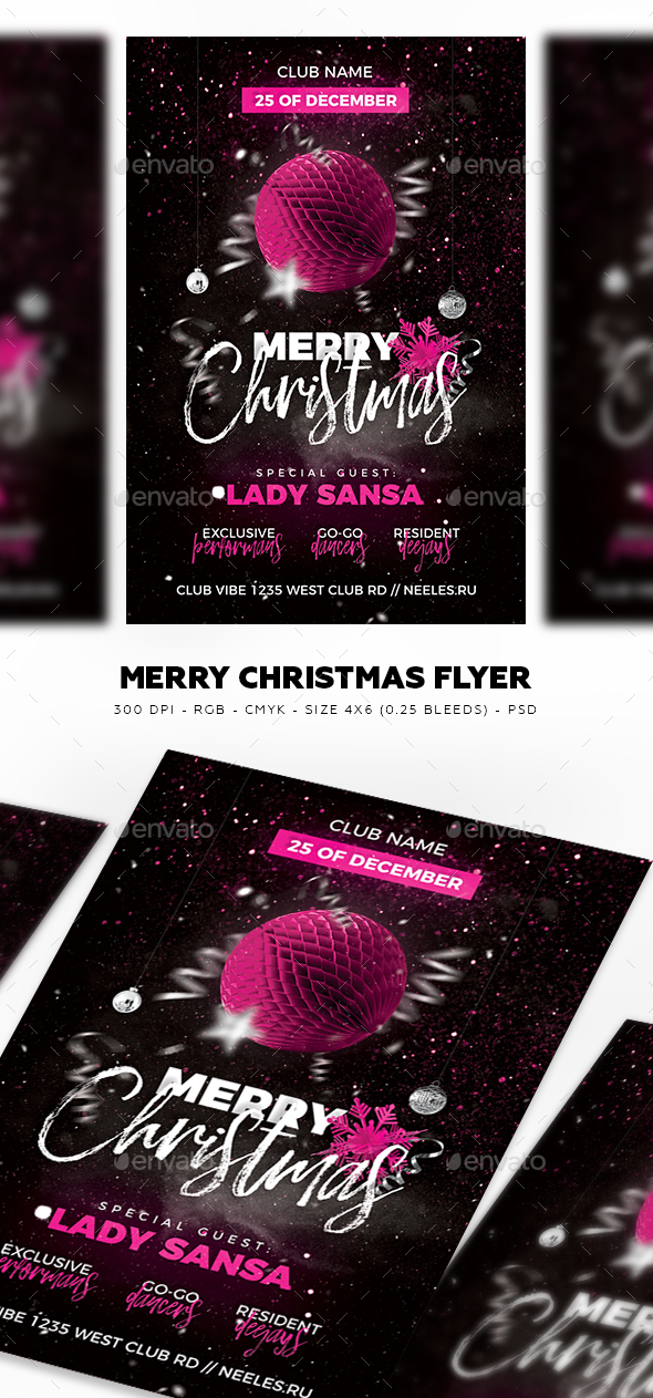 GraphicRiver Merry Christmas Flyer 21076851