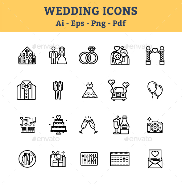 GraphicRiver Wedding Icons 21076864