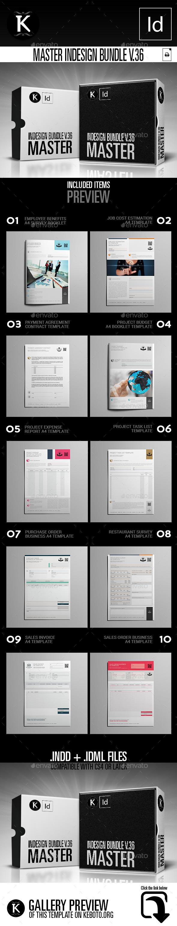 Master inDesign Bundle v.36 - Miscellaneous Print Templates