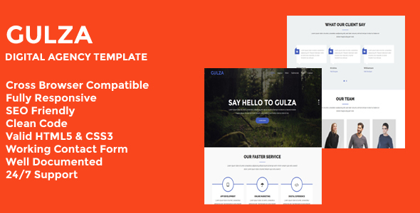 Gulza - Digital Agency One Page Template