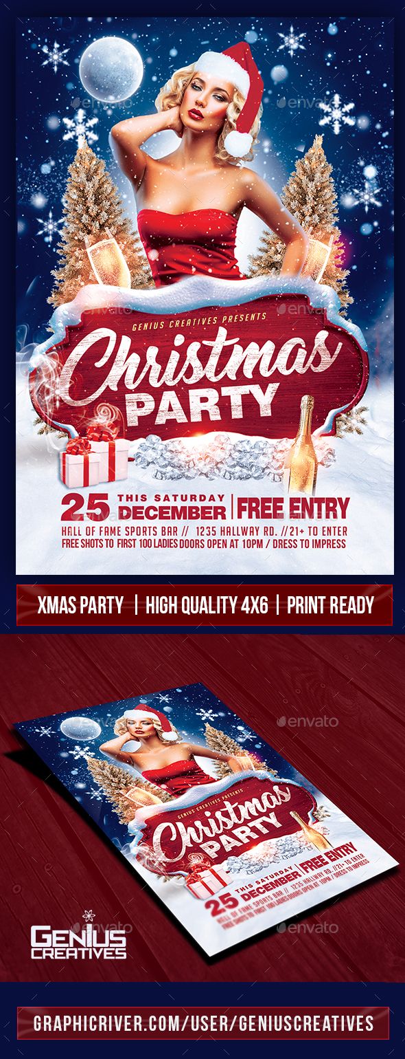 Christmas Party Flyer Template v1 - Holidays Events