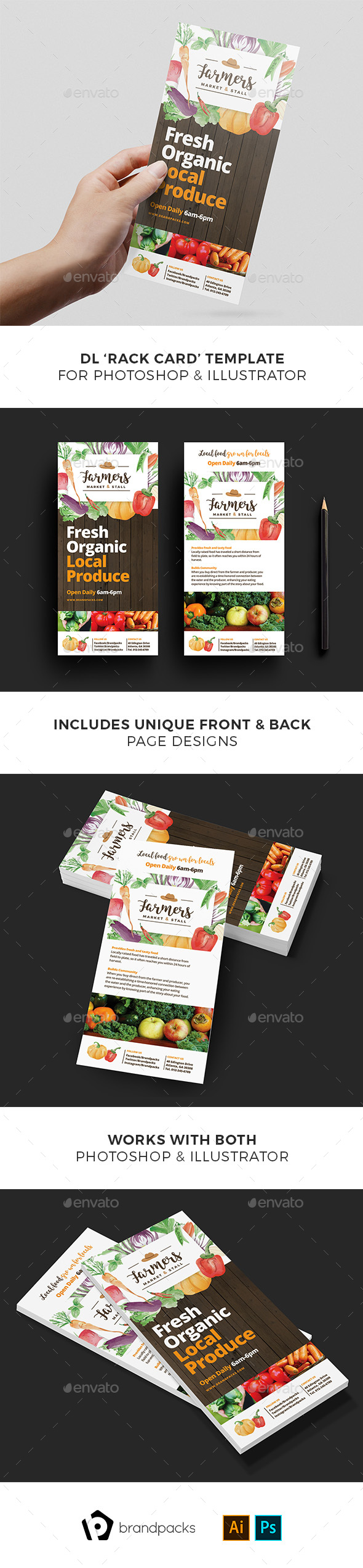 GraphicRiver Farmers Market DL Card Template 21077171