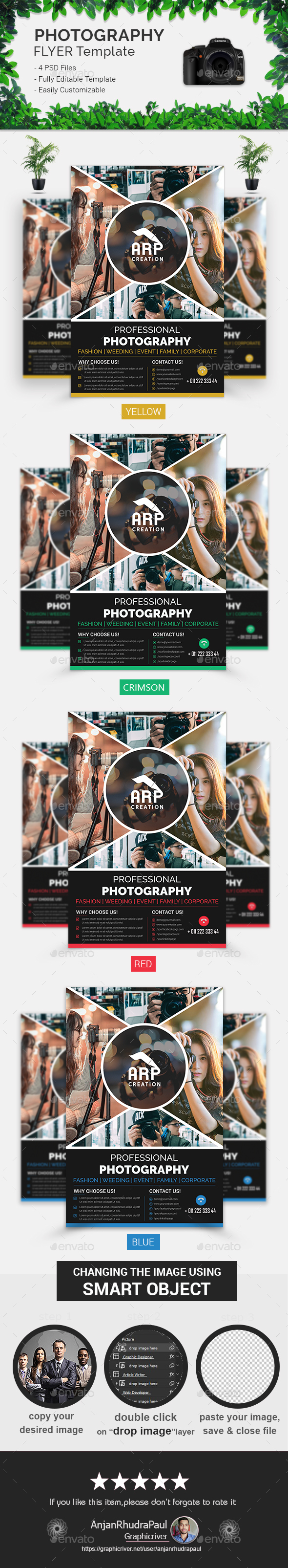 GraphicRiver Photography Flyer Template 21077198