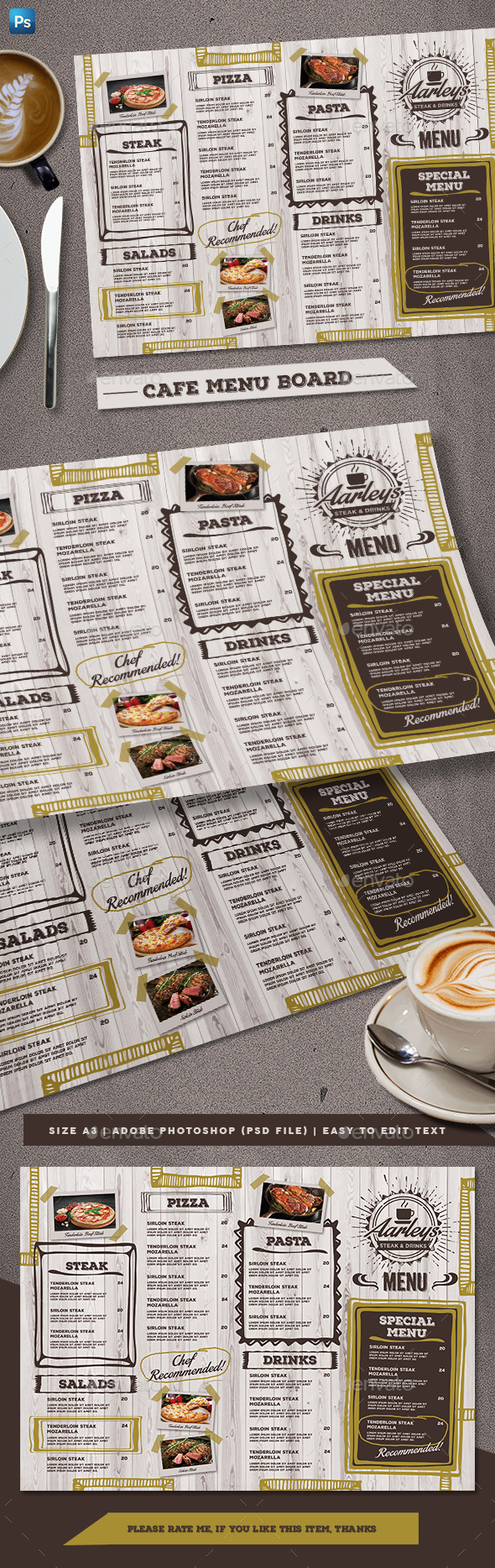 GraphicRiver Cafe Menu Board 21077214