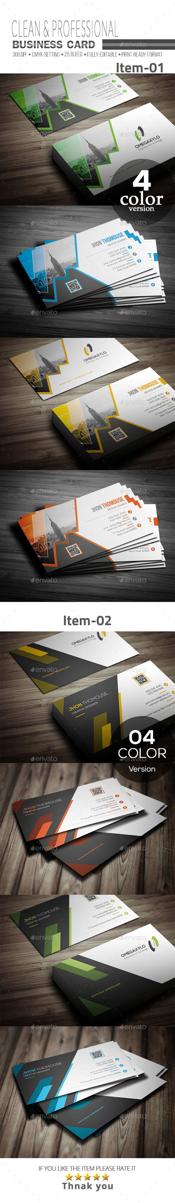 GraphicRiver Business Card Bundle 2 In 1 21077260