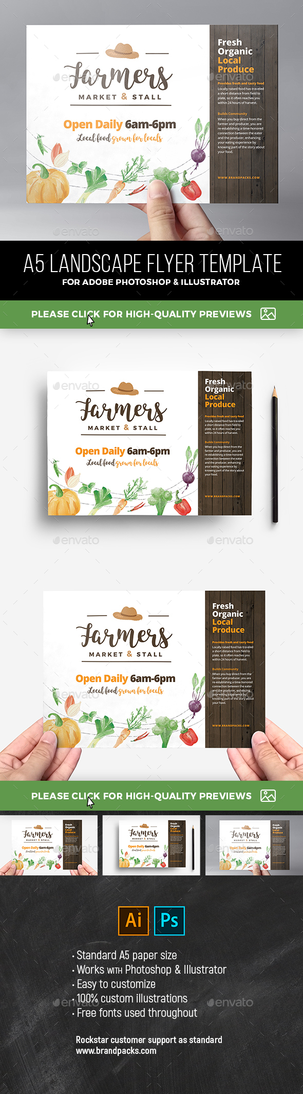 GraphicRiver Farmers Market Flyer Template 21077262