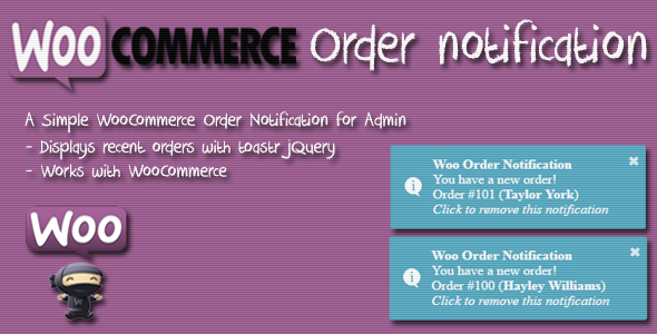 CodeCanyon Woo Order Notification WordPress Plugin for WooCommerce 21077301