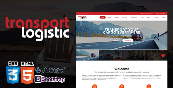 ThemeForest Logistics Transportation Transera Logistics HTML5 Template 21077332