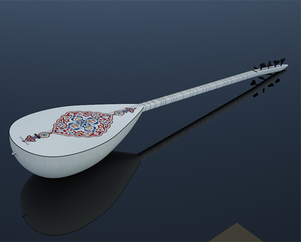 instrument saz reed 3D - 3DOcean Item for Sale