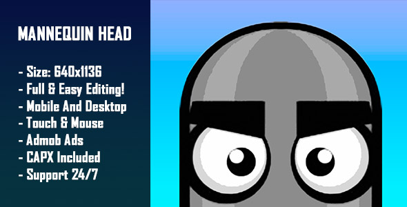Download Source code              Mannequin Head - HTML5 Game + Mobile Version! (Construct-2 CAPX)            nulled nulled version