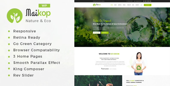 Maikop - Environment WordPress Theme