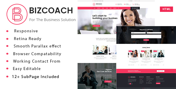 Bizcoach - Business Consulting and Professional Services HTML Template - Business Corporate
