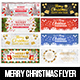 Merry Christmas Facebook Covers - GraphicRiver Item for Sale