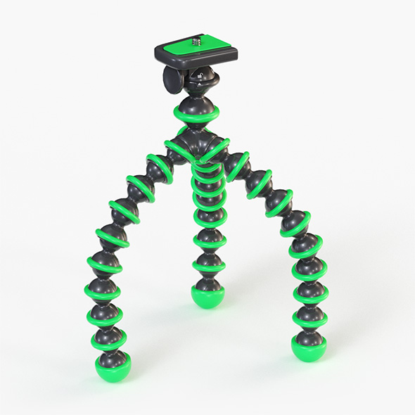 Flexible Camera Tripod Low Poly - 3DOcean Item for Sale