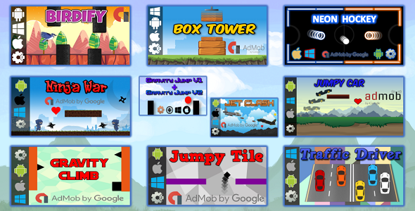 CodeCanyon 10 HTML5 Games Bundle Construct 2 CAPX 21077727