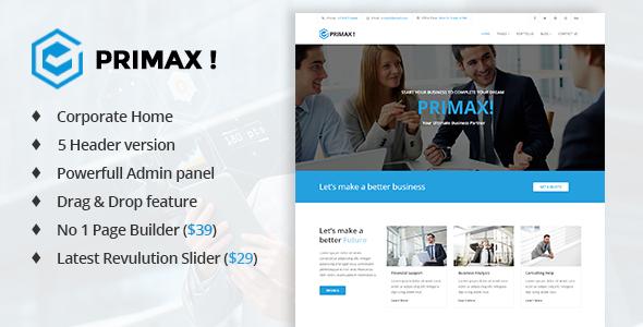 Image of PRIMAX! - Multi-Purpose Joomla Template