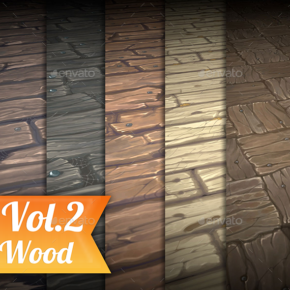 Wood Vol.2 - Hand Painted Texture Pack - 3DOcean Item for Sale