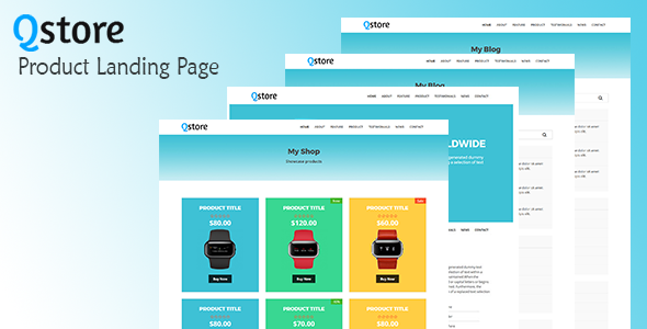 Qstore – Product Landing Page