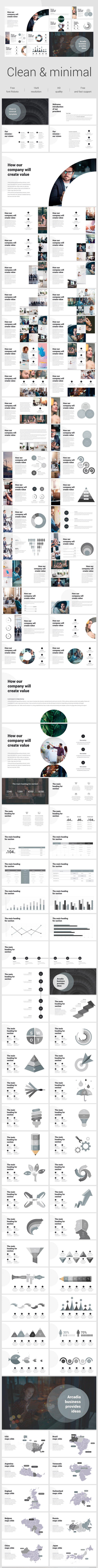 GraphicRiver Clean & Minimal Google Slide Template 21078011