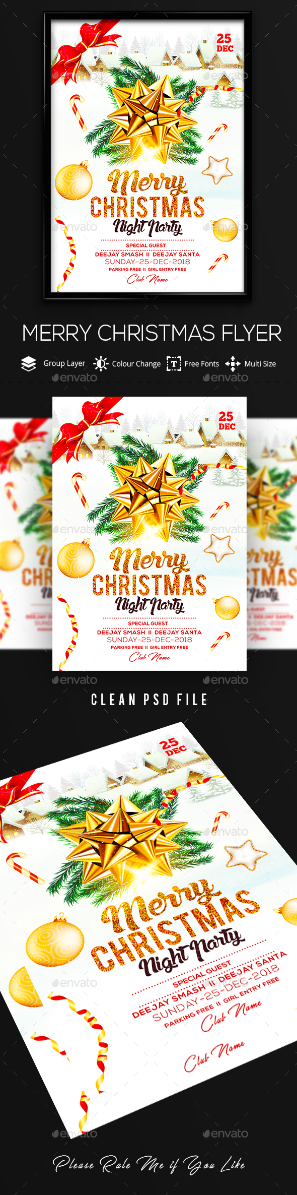 GraphicRiver Christmas Flyer 21078056
