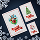 Christmas Greeting Card and Invitation Paper Flyer Mock-Up