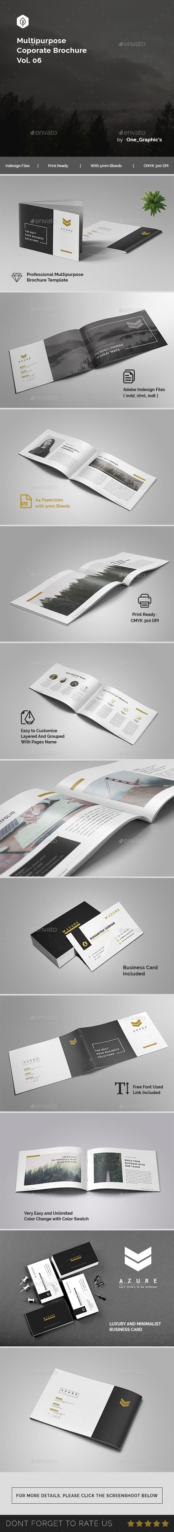 Multipurpose Corporate Brochure Template Vol. 06 - Print Templates