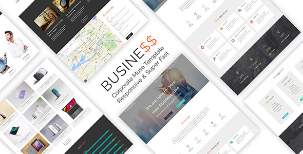 Business_Corporate & Business Muse Template - Corporate Muse Templates