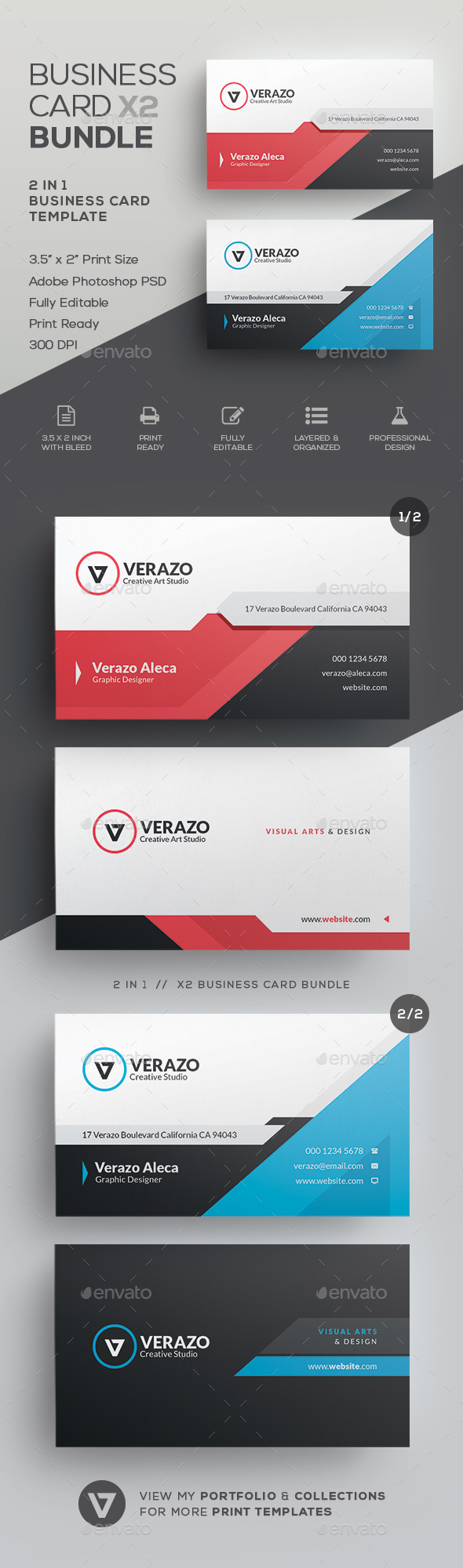 GraphicRiver Business Card Bundle 41 21078319